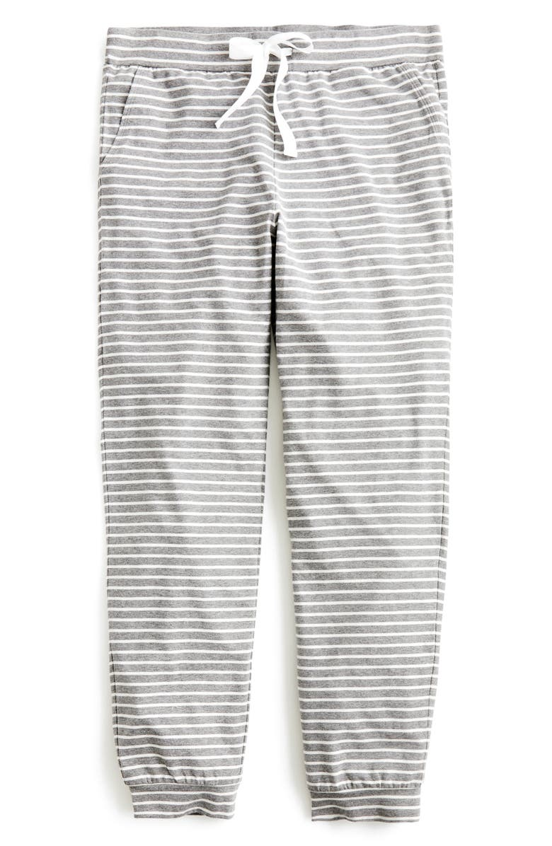 J.CREW Dreamy Stripe Pajama Jogger Pants, Main, color, 020