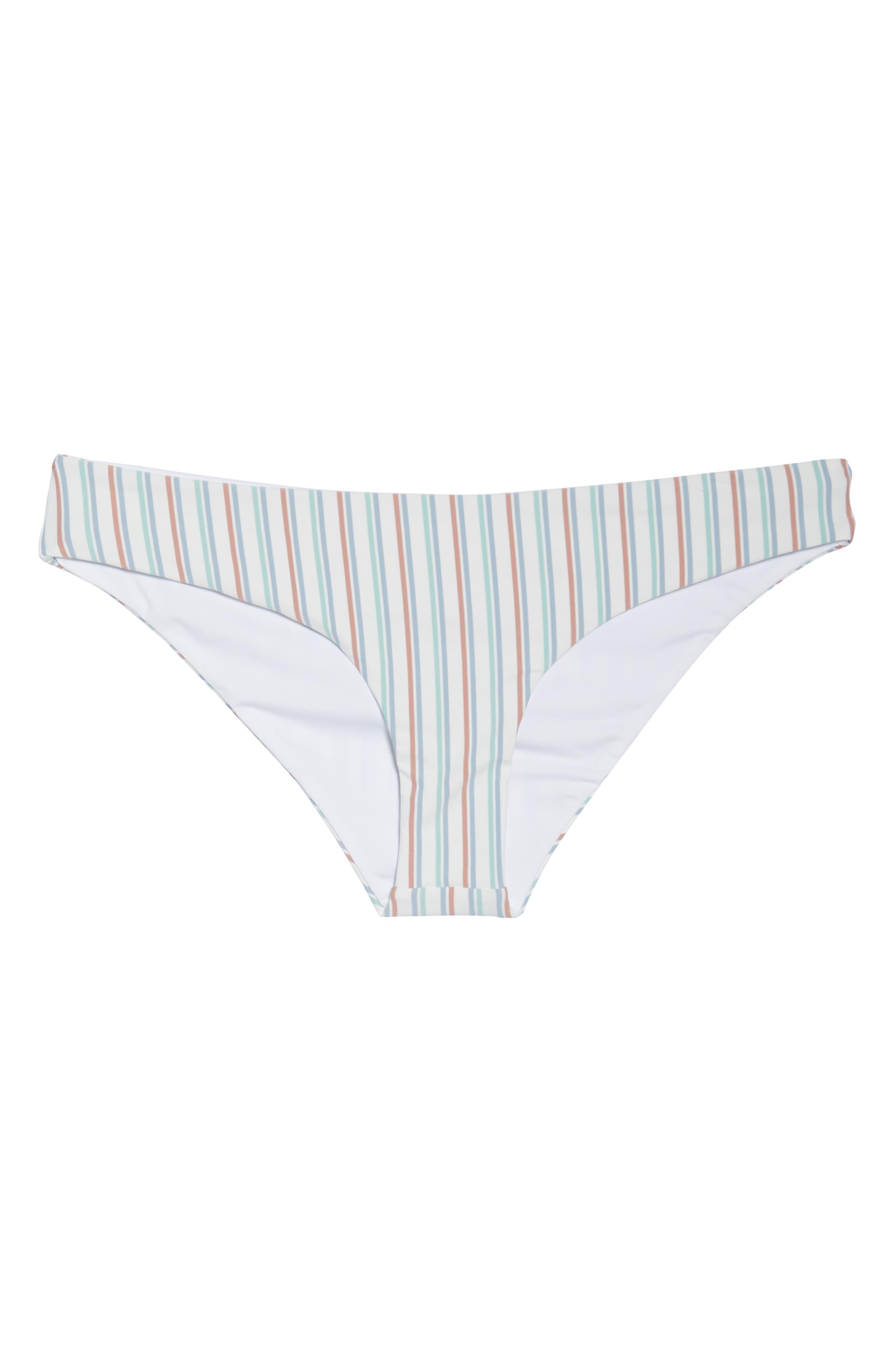 ,                             x Becca Tilley Sandy Classic Bikini Bottoms,                             Alternate thumbnail 5, color,                             CABANA STRIPE