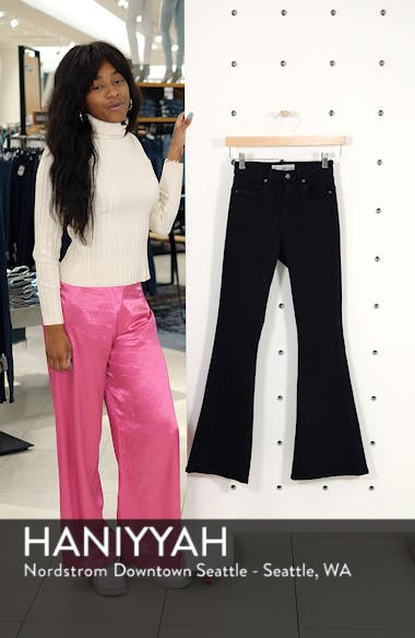 Jamie High Waist Flare Leg Jeans, sales video thumbnail