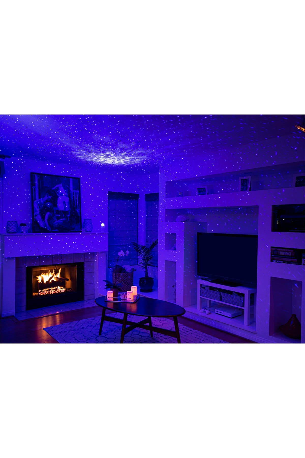 Sky Lite Laser Projector with LED Nebula Cloud Night Light Ambiance Indoor