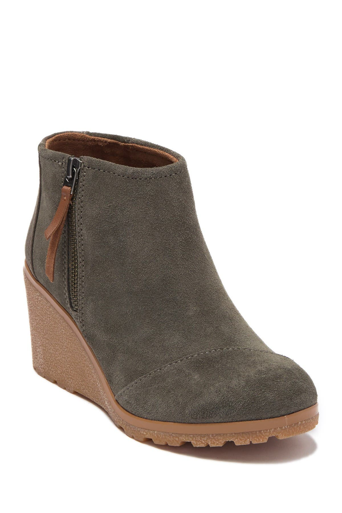 TOMS | Avery Suede Wedge Bootie