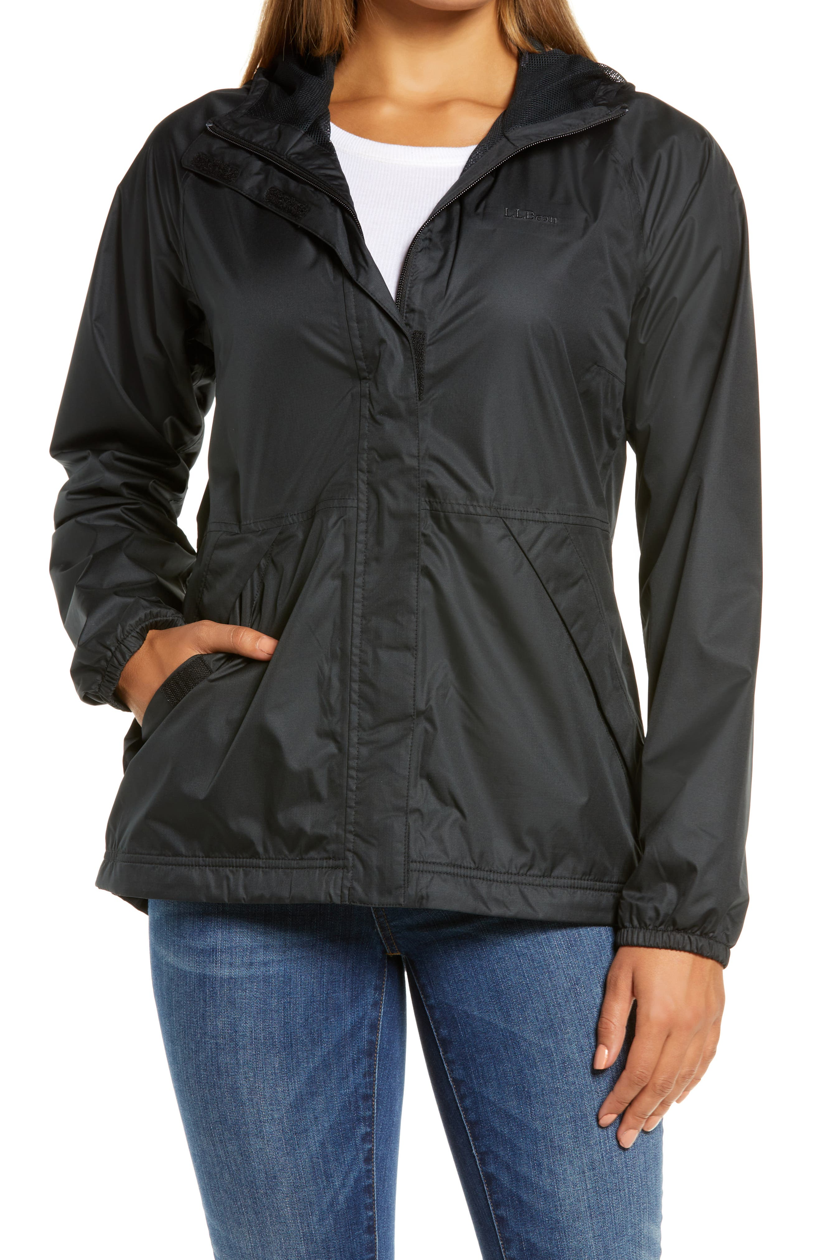 Packable Waterproof Hooded Windbreaker Jacket