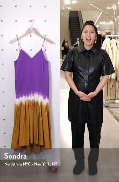 Zelda Tie Dye Stretch Cotton Midi Dress, sales video thumbnail