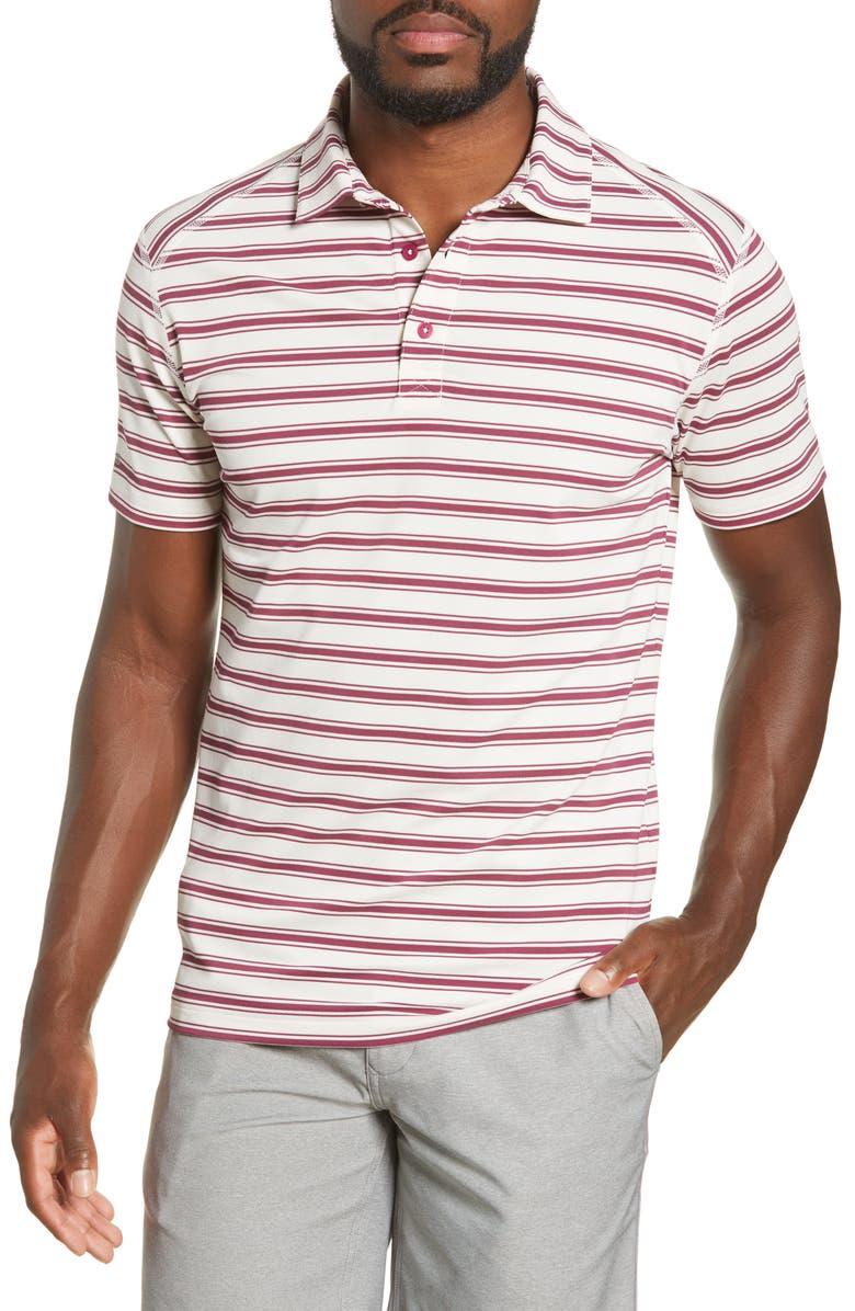 BONOBOS M-Flex Flatiron Slim Fit Stripe Golf Polo, Main, color, AUTUMN STRIPE C8