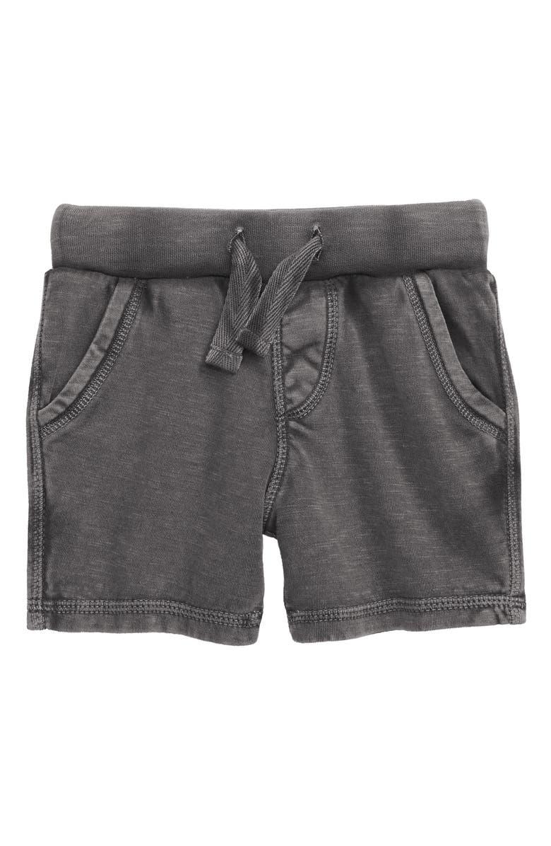TUCKER + TATE Knit Shorts, Main, color, GREY CASTLEROCK