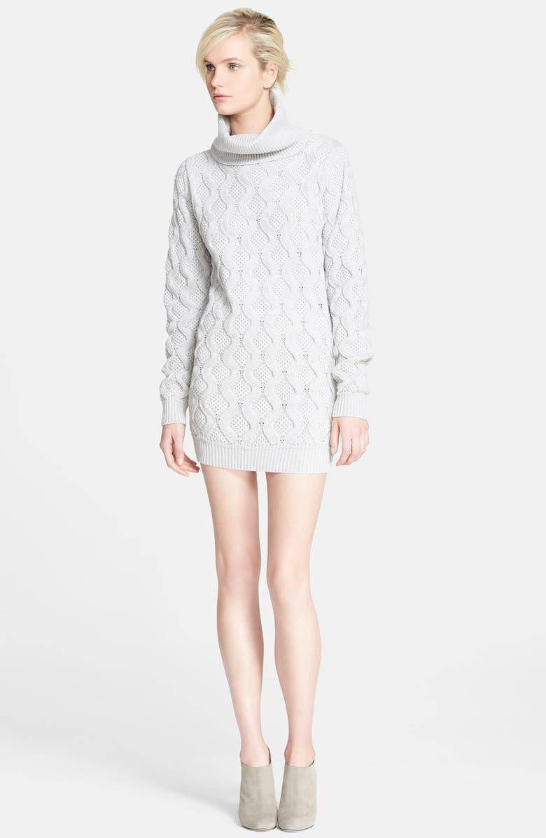 MARC JACOBS Turtleneck Cashmere Sweater Tunic Dress, Main, color, 020