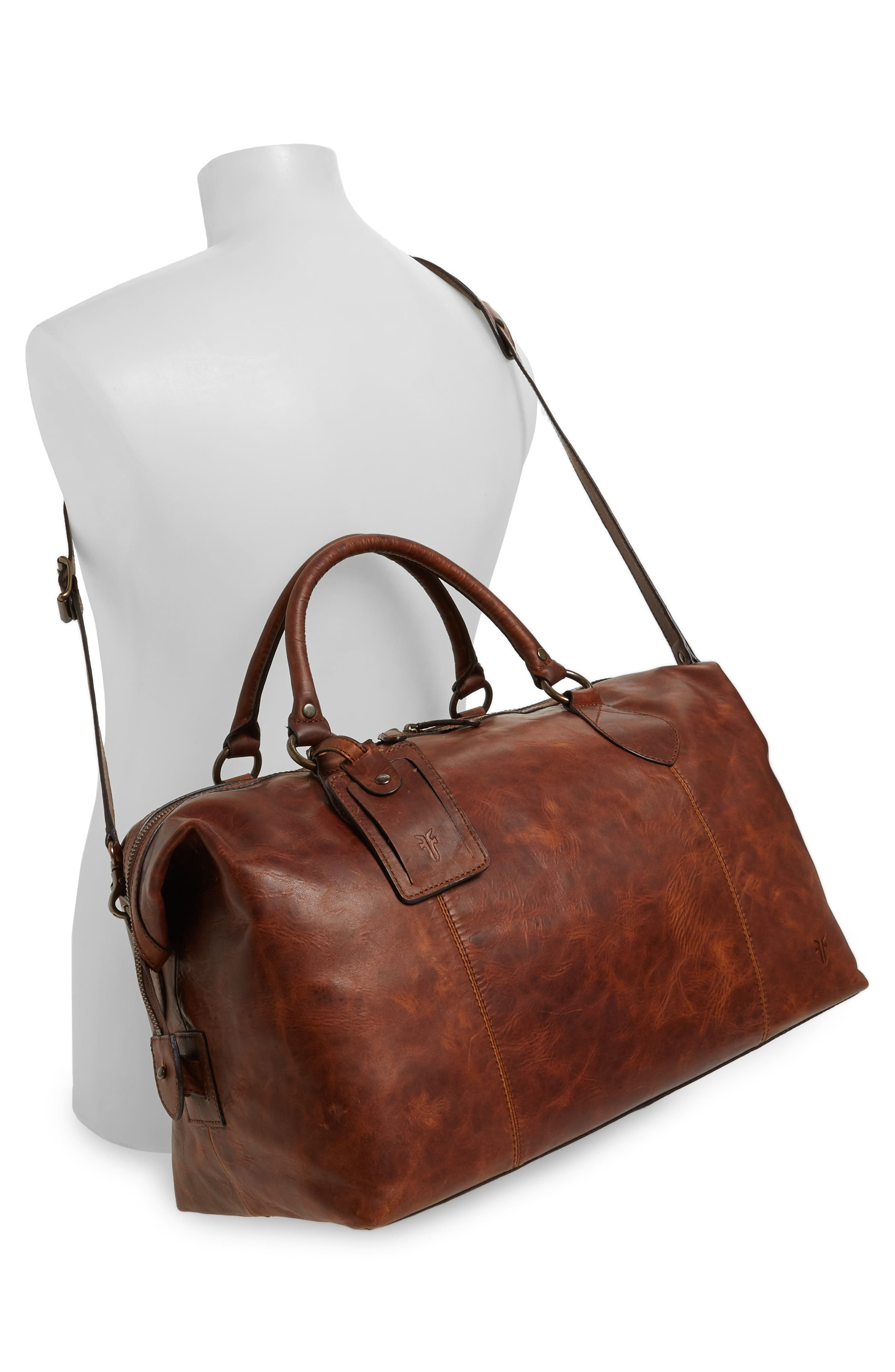 ,                             'Logan' Leather Overnight Bag,                             Alternate thumbnail 16, color,                             235