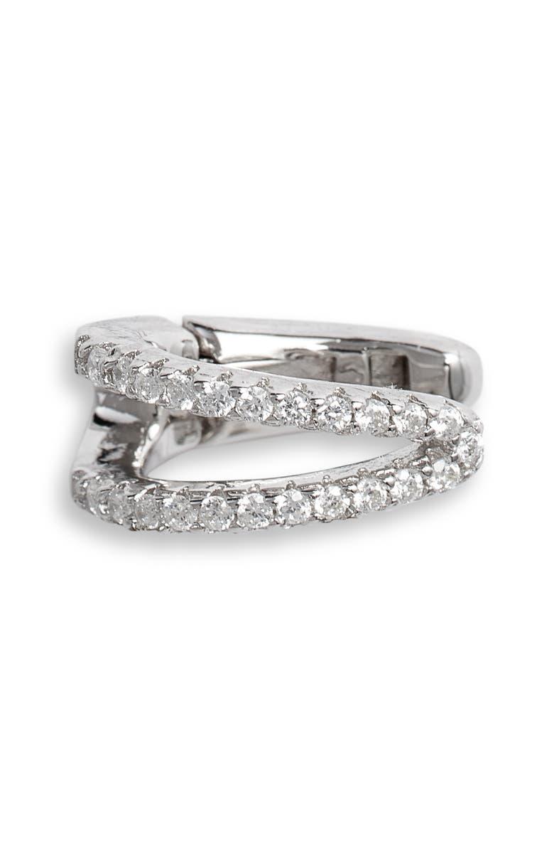 ADINA'S JEWELS Adina's Jewels Double Pavé Hinge Ear Cuff, Main, color, 040