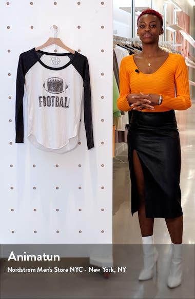 Football Graphic Long Sleeve Sleep Tee, sales video thumbnail