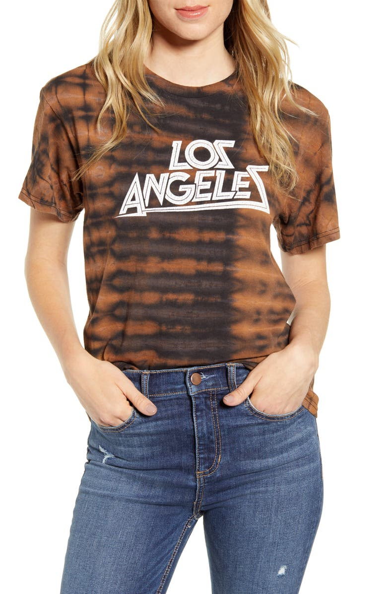 NEEMA CALIFORNIA Andie Los Angeles Boyfriend Tee, Main, color, TIE DYE
