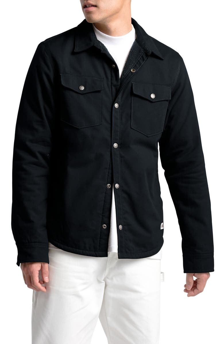 THE NORTH FACE Campshire Shirt Jacket, Main, color, TNF BLACK