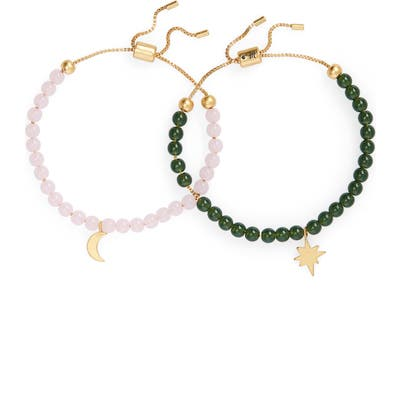 Madewell Spaced Out Set Of 2 Beaded Friendship Bracelets
