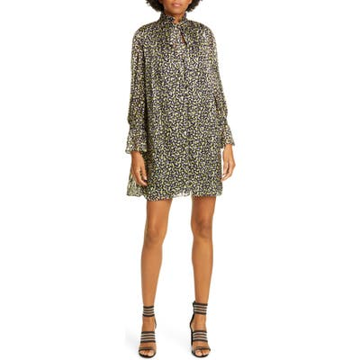 Alice + Olivia Rei Long Sleeve Minidress, Yellow