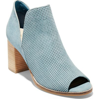 Cole Haan Shiloh Open Toe Bootie, Blue