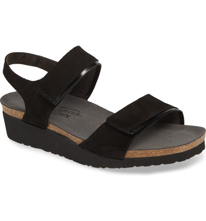 NAOT Aisha Wedge Sandal, Main, color, BLACK