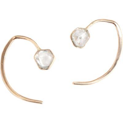 Melissa Joy Manning Mini Herkimer Wishbone Earrings