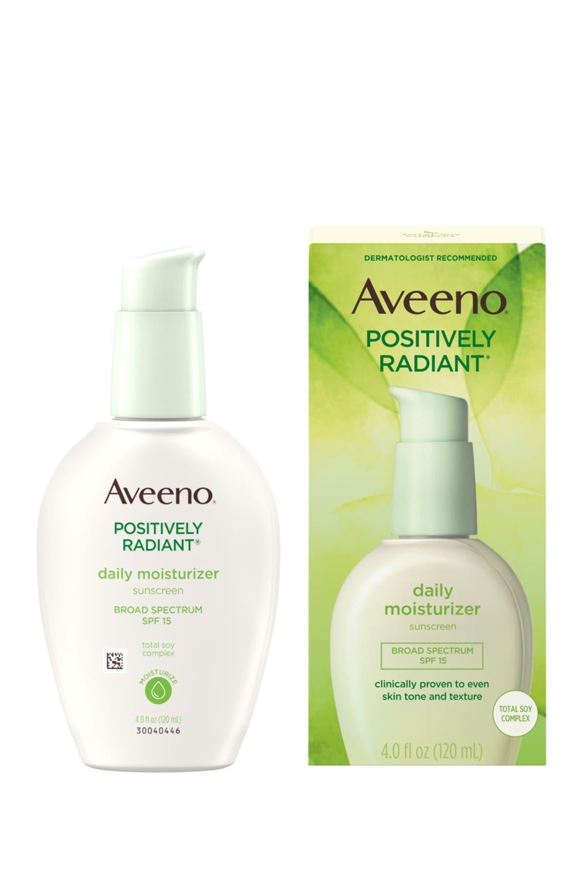 Image of Aveeno Positively Radiant Moisturizer with SPF 15 - 4 oz