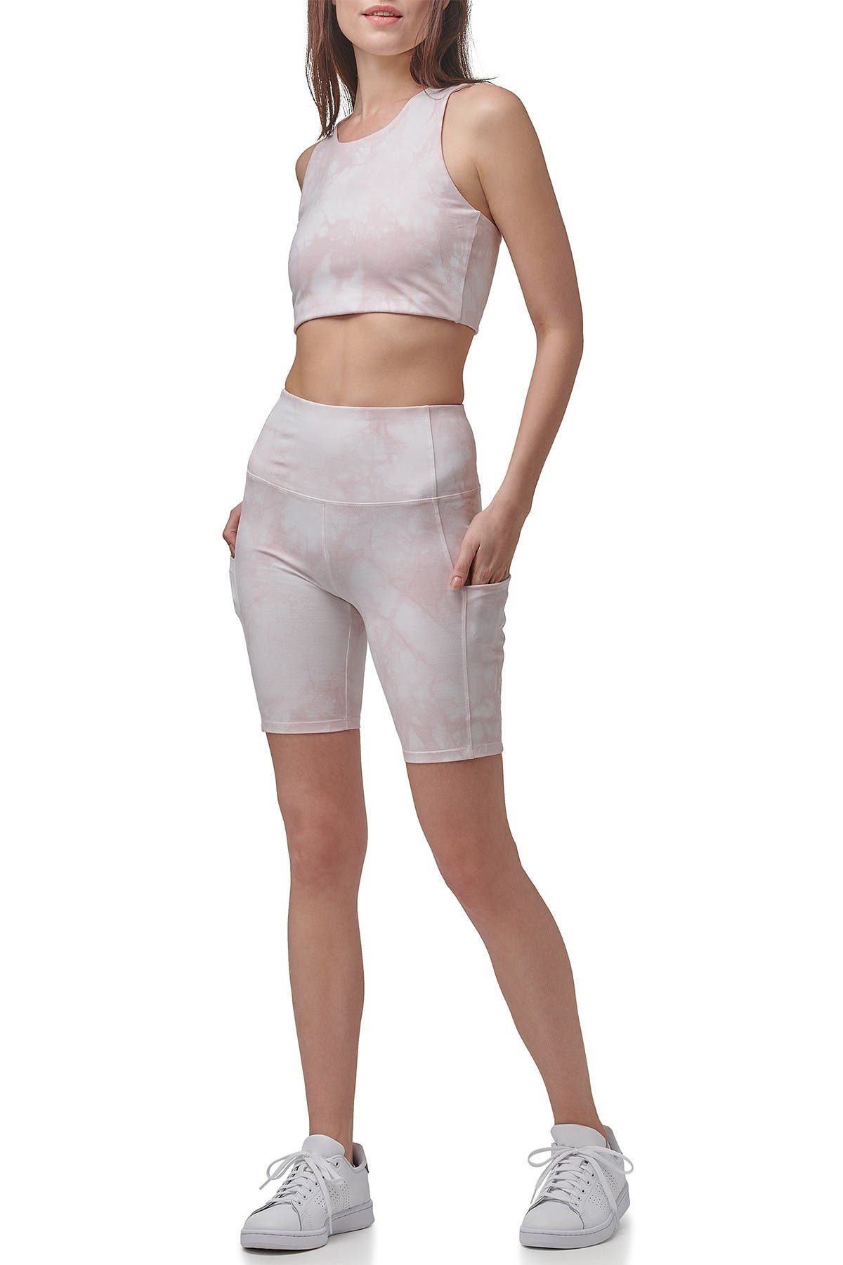 Image of MARC NEW YORK PERFORMANCE Tie Dye Cropped Yoga Tank