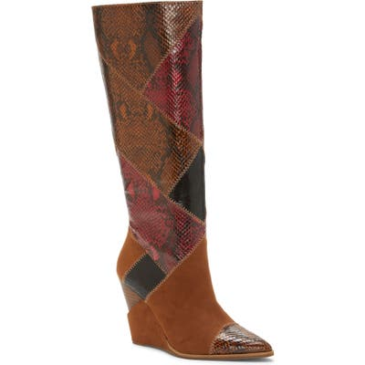 Jessica Simpson Henlee Knee High Wedge Boot, Brown
