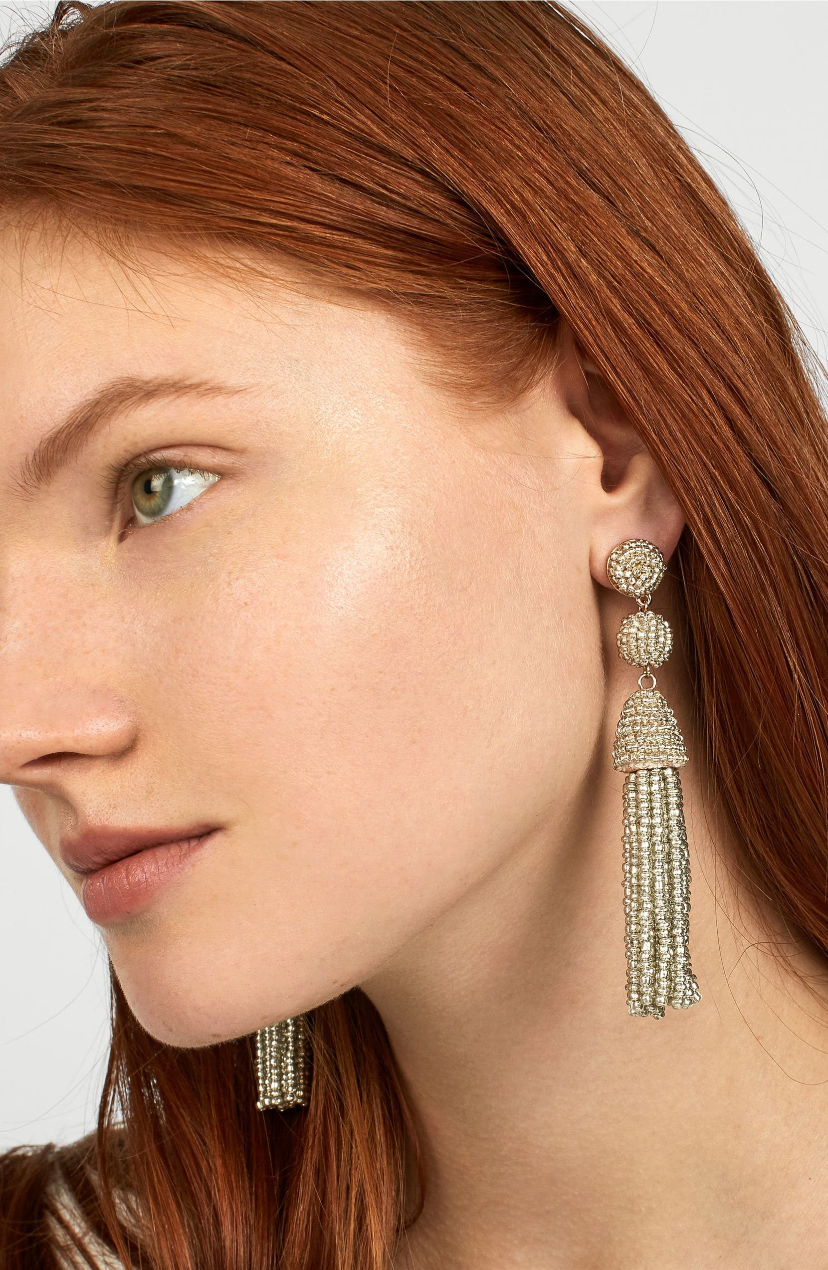 a60d68174 BaubleBar Granita Beaded Tassel Earrings | Nordstrom