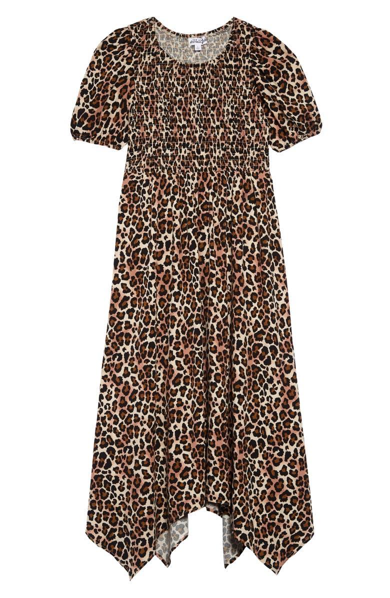 TEN SIXTY SHERMAN Smocked Maxi Dress, Main, color, LEOPARD