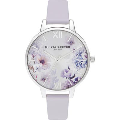 Olivia Burton Sunlight Florals Leather Strap Watch,