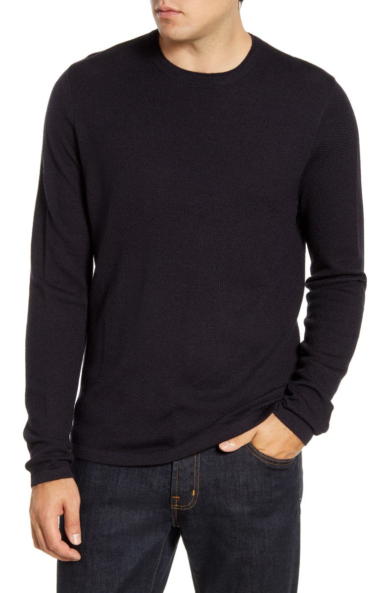NORDSTROM MEN'S SHOP Wool Blend Crewneck Sweater, Main, color, 401