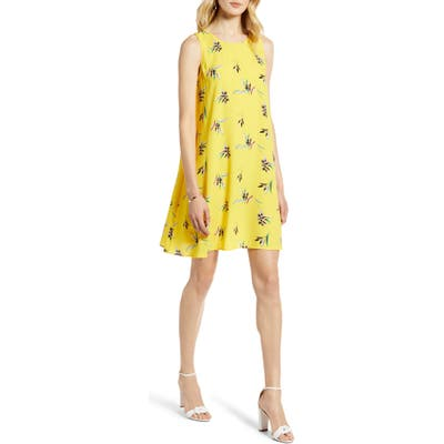 Halogen A-Line Dress, Yellow