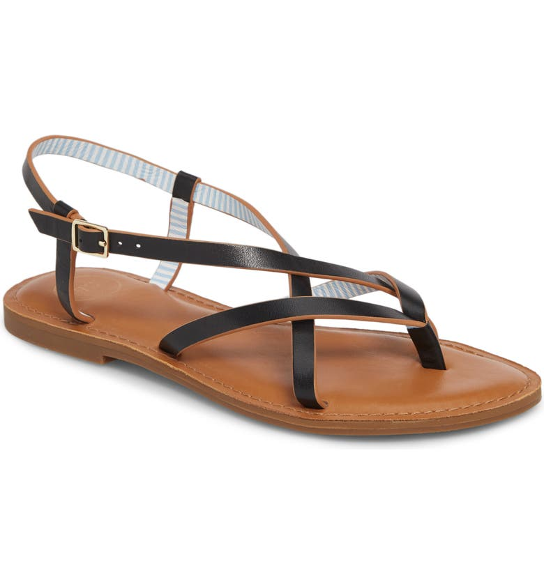 1901 Taleah Strappy Sandal, Main, color, BLACK LEATHER