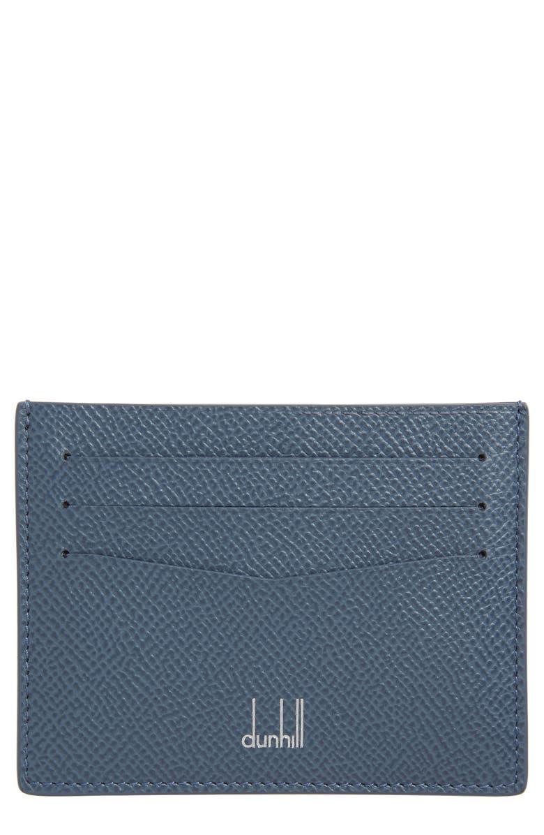 DUNHILL Cadogan Card Case, Main, color, CORNFLOWER BLUE