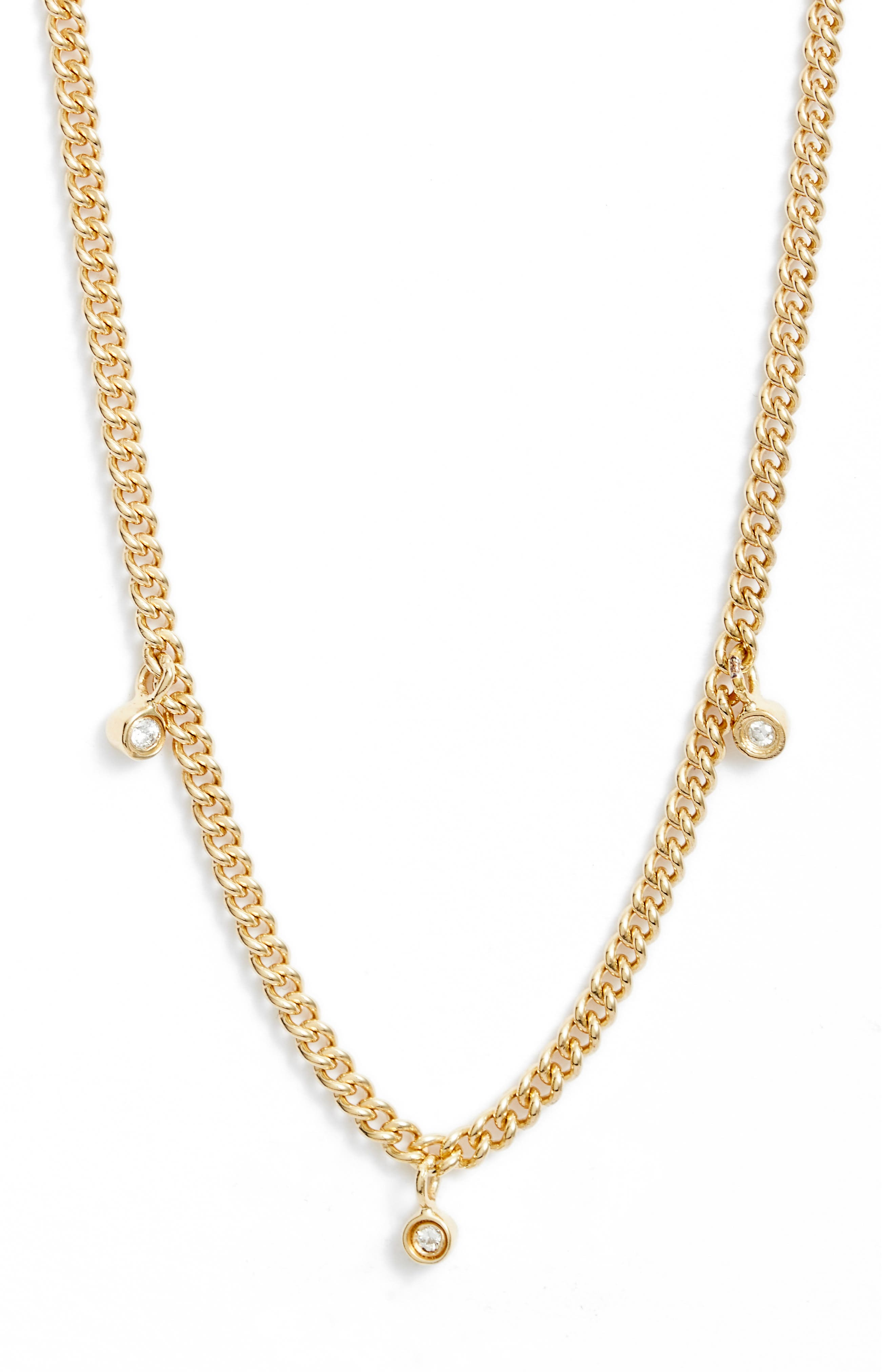 Elsa Diamond Charm Necklace