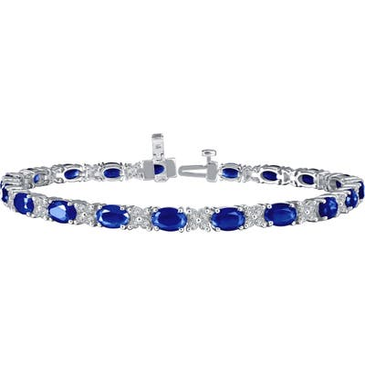 Lafonn Simulated Diamond & Sapphire Tennis Bracelet