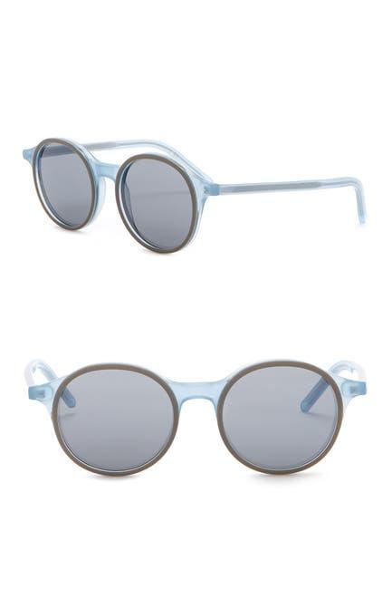 Image of Tomas Maier 49mm Acetate Frame Round Sunglasses