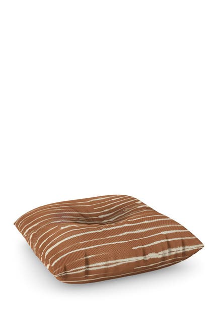 Image of Deny Designs Ninola Design Ink Stripes Terracota Square Floor Pillow