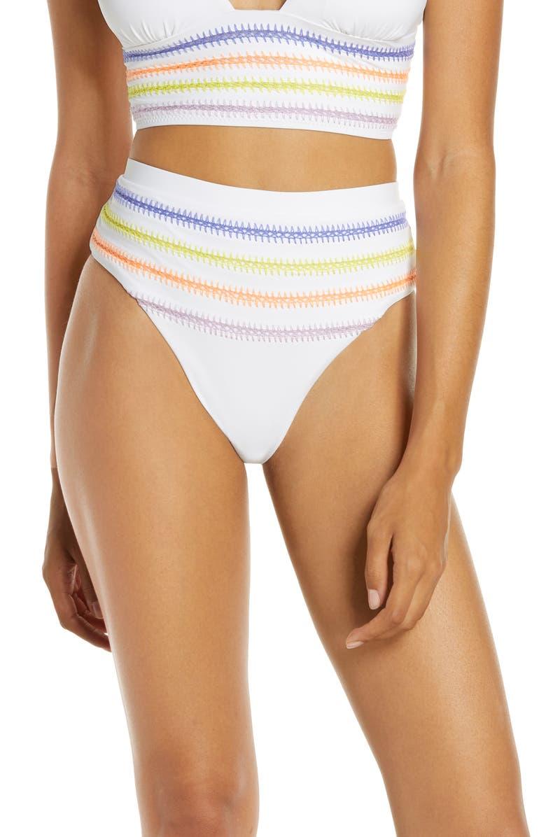 DOLCE VITA Kokomo Bikini Bottoms, Main, color, WHITE