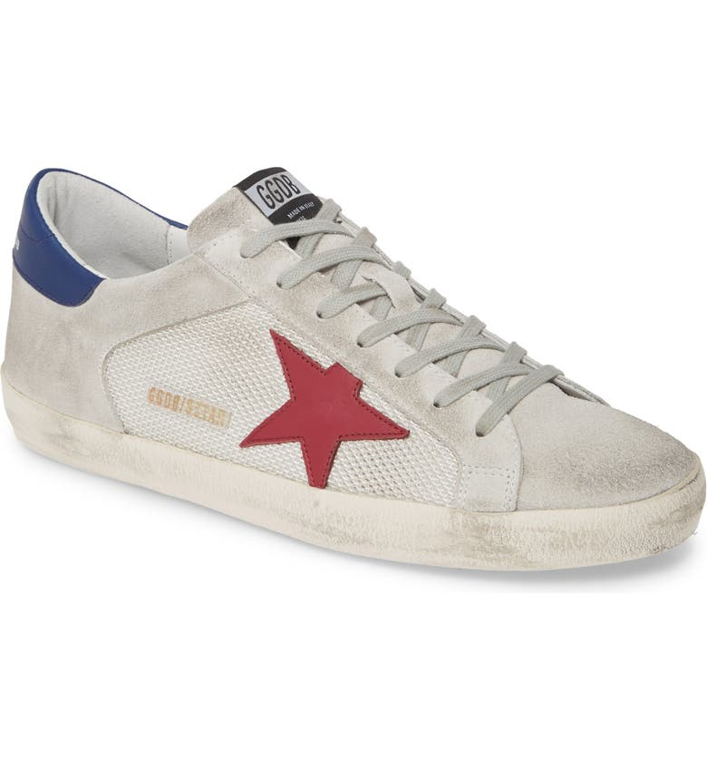 GOLDEN GOOSE Superstar Sneaker, Main, color, ICE SUEDE/ GREY CORD