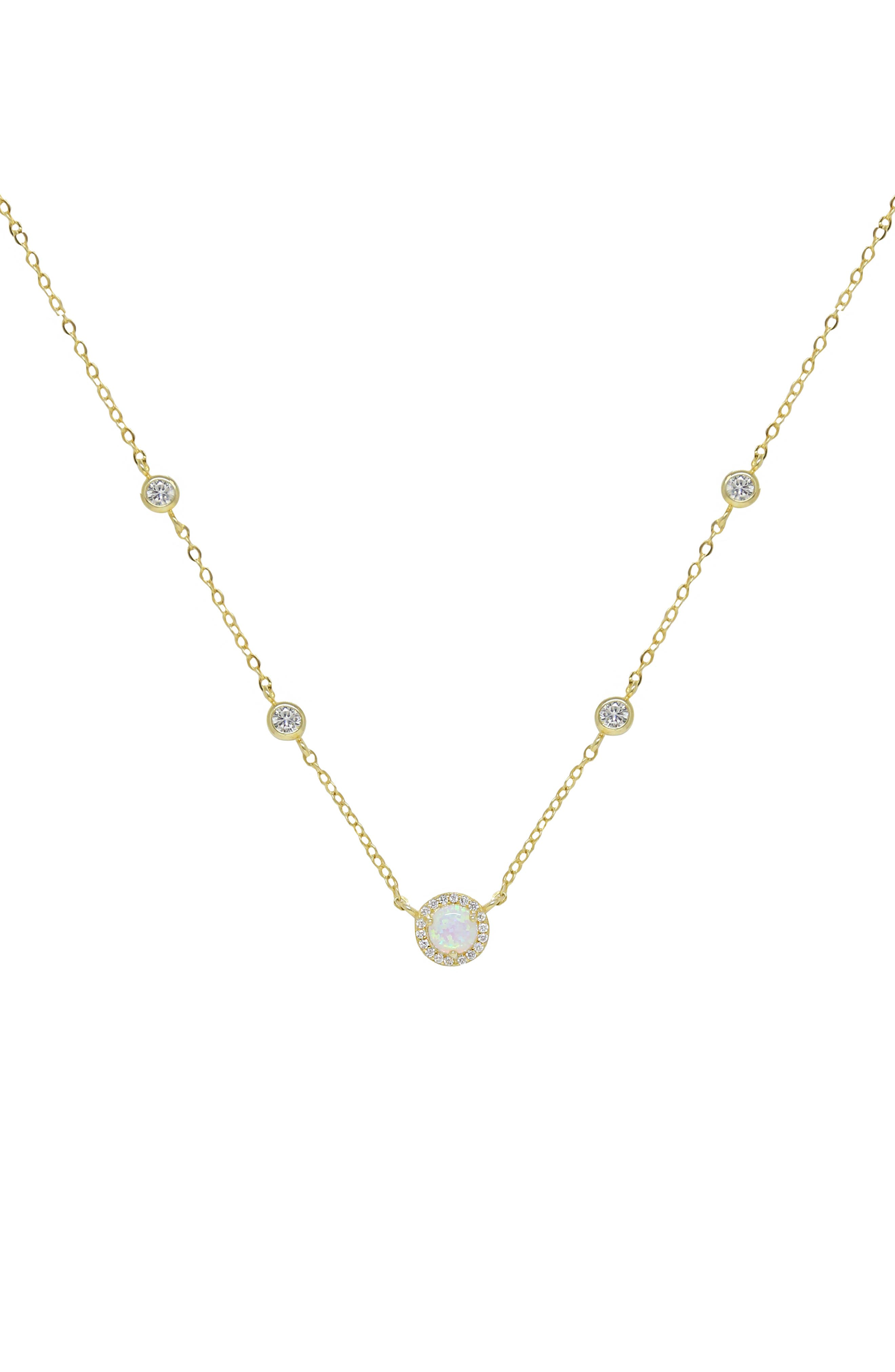 Opal Chain Necklace