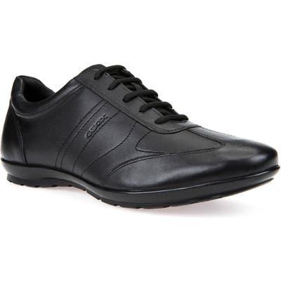 Geox Symbol 1ro Sneaker, Black