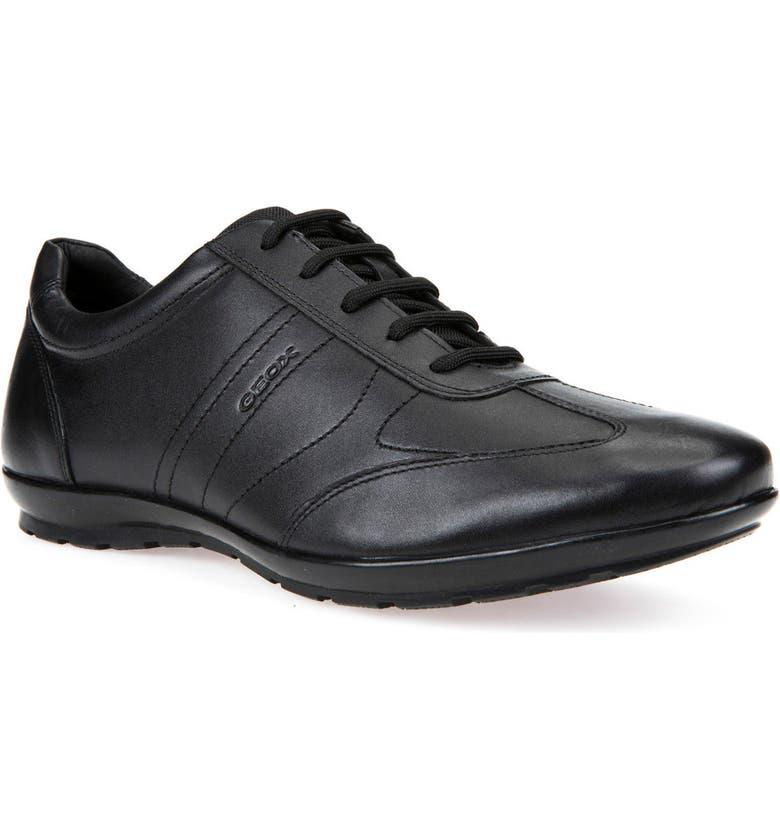 GEOX Symbol 19 Euro Sneaker, Main, color, BLACK