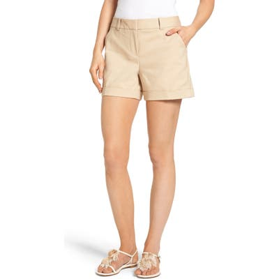 Vince Camuto Cuffed Shorts, Beige