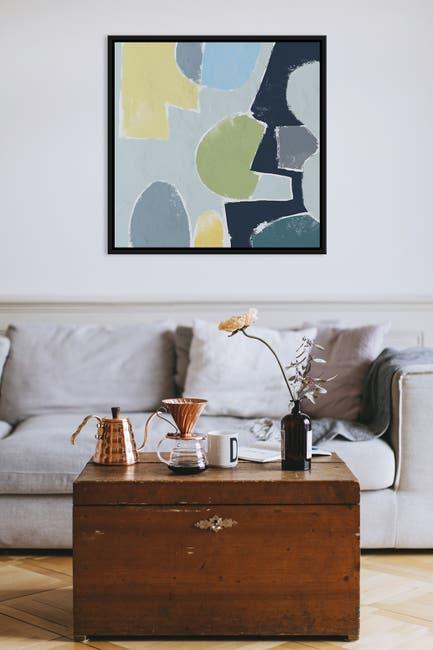 Image of PTM Images Bold Abstract Large LIV Floater Framed Canvas