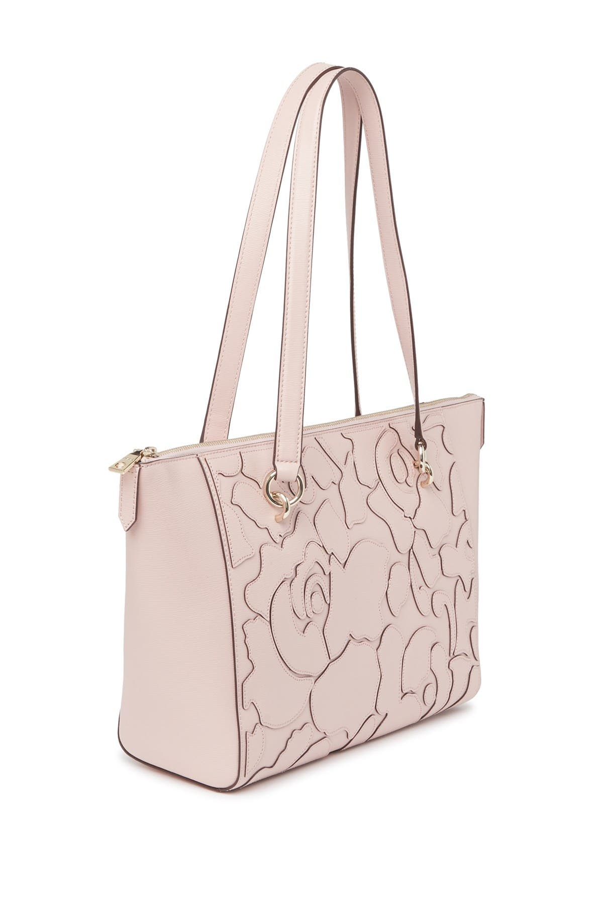 Image of DKNY Sara Abstract Print Leather Tote Bag