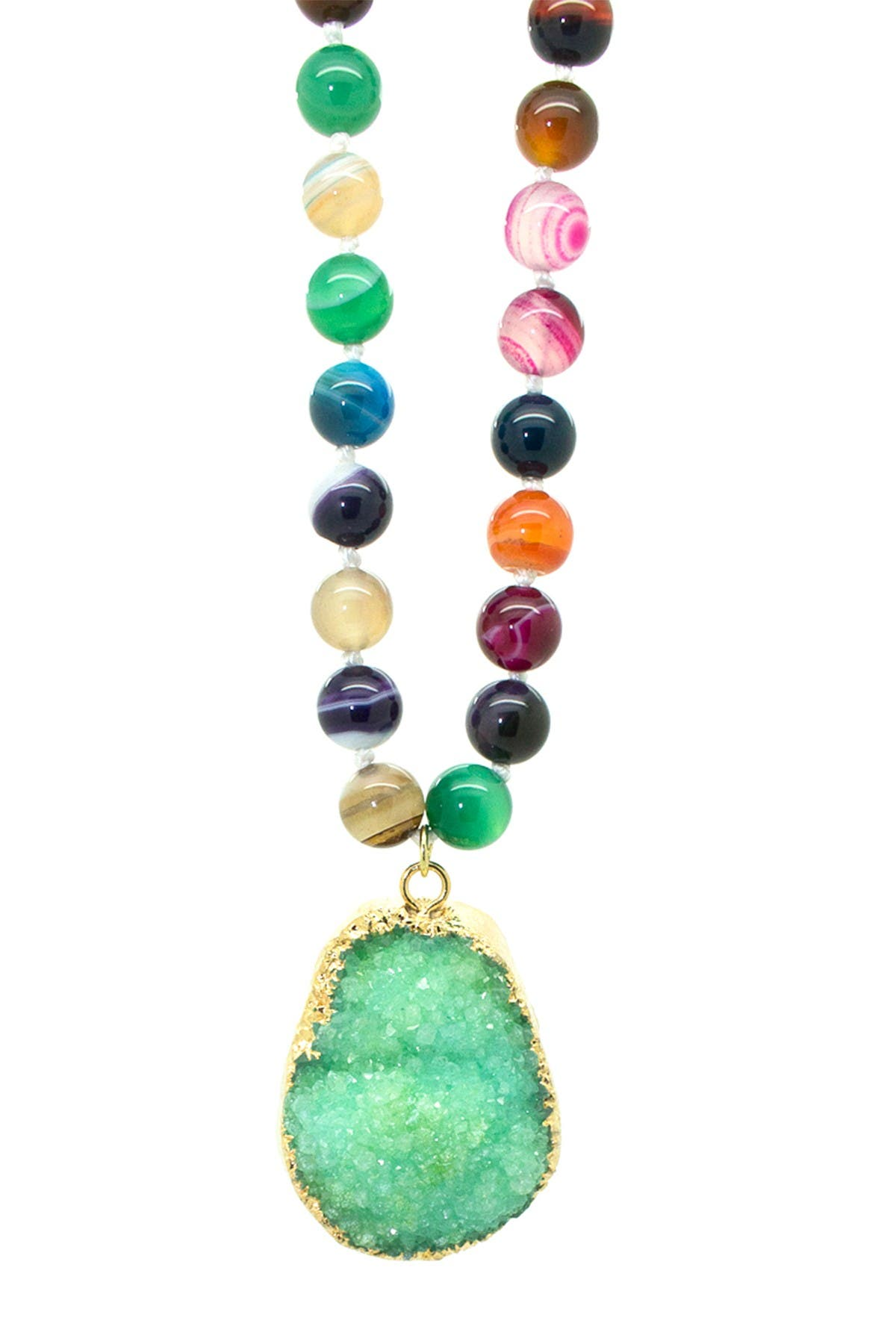 Image of Eye Candy Los Angeles Green Bead Necklace