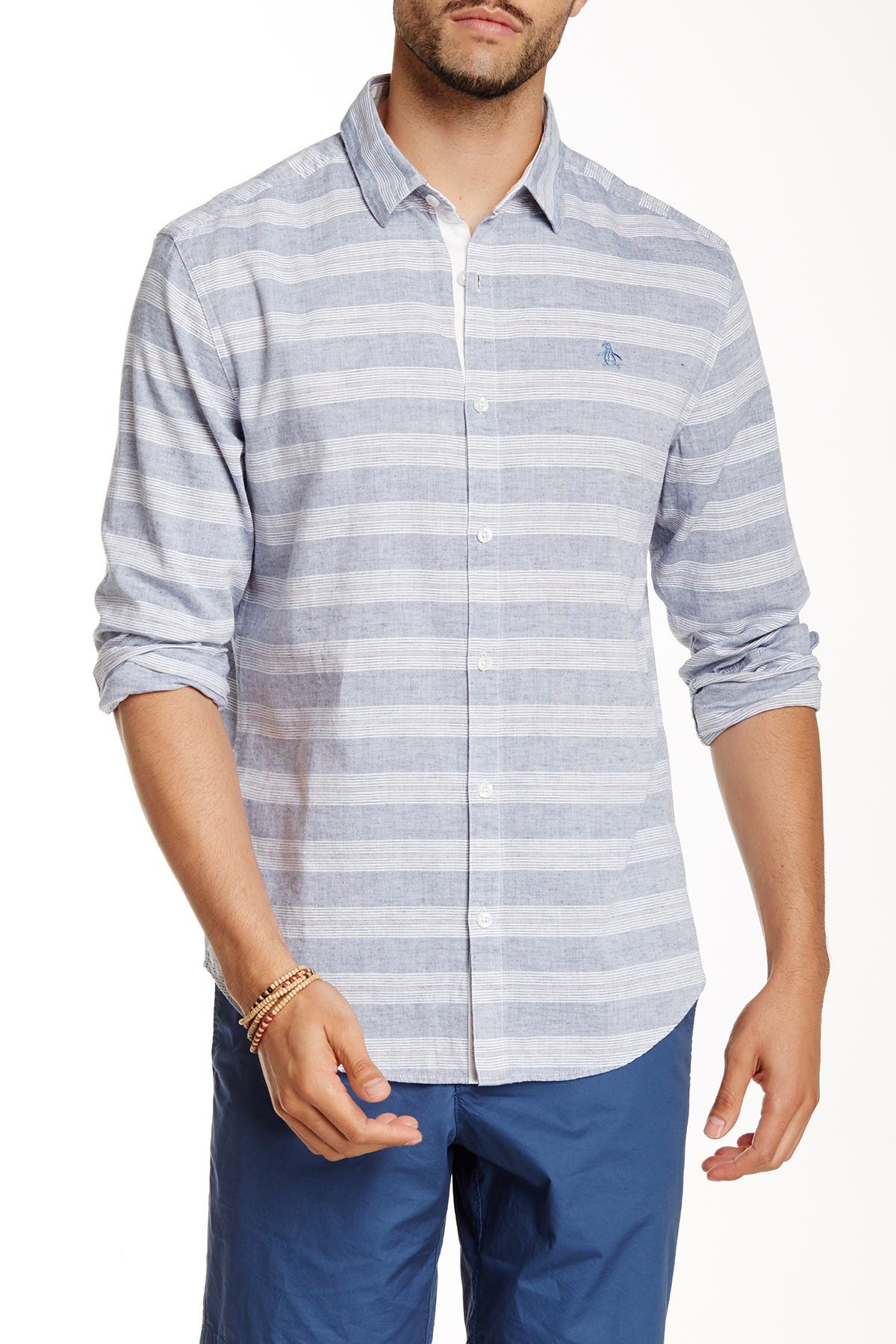 Image of Original Penguin Horizontal Stripe Shirt