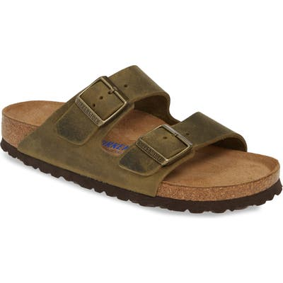Birkenstock Arizona Soft Slide Sandal,12.5 - Green