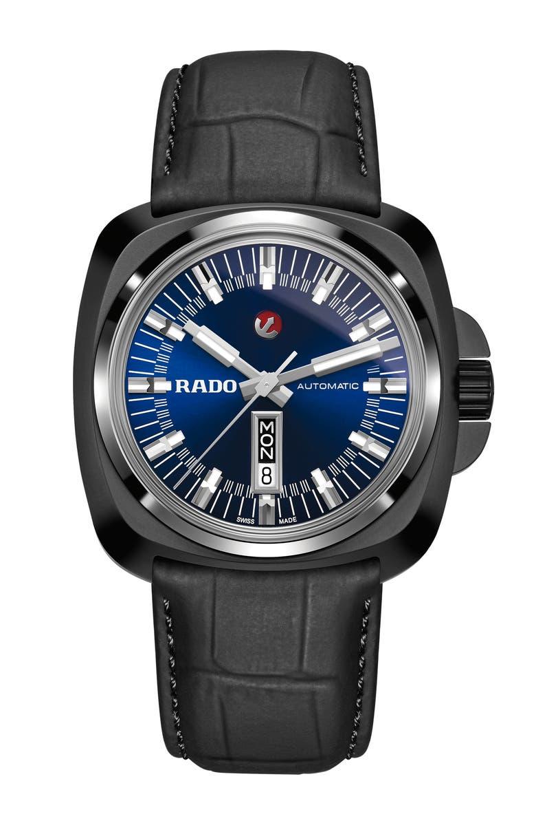 RADO HyperChrome Ceramic Leather Strap Watch 46mm