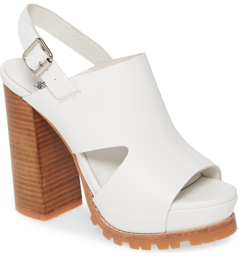 JEFFREY CAMPBELL Loriena Platform Sandal, Main, color, 100