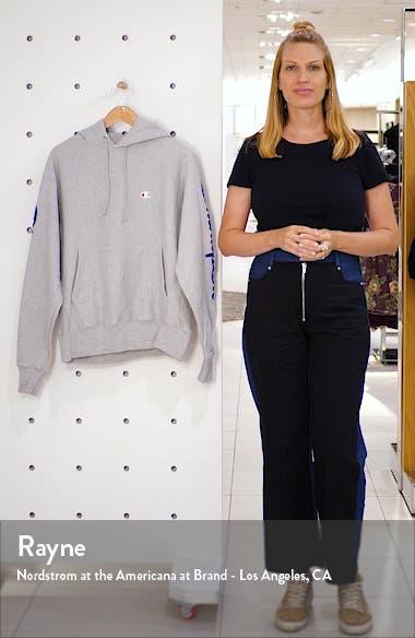 Flocked Logo Hooded Sweatshirt, sales video thumbnail