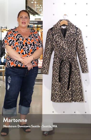 Leopard Print Wrap Coat, sales video thumbnail
