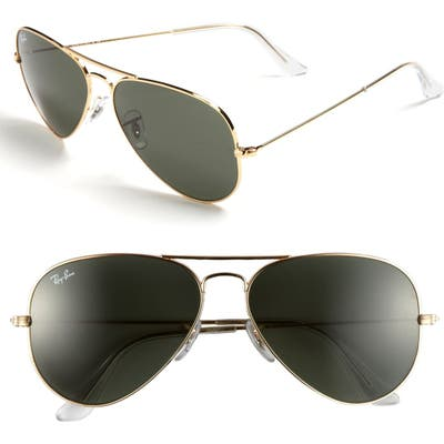 Ray-Ban Standard Original 5m Aviator Sunglasses - Gold